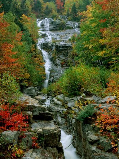 A Stream Runs Swiftly over Rocks-Medford Taylor-Photographic Print