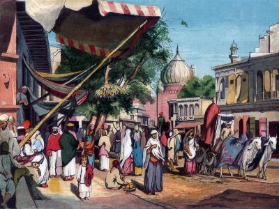 A Street at the Back of Jami Masjid, Delhi, India, 1857-William Carpenter-Giclee Print