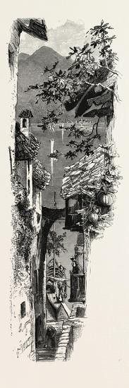 A Street at Varenna, the Italian Lakes, Italy, 19th Century--Giclee Print