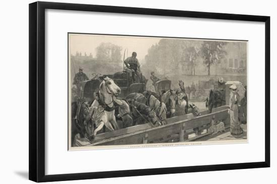 A Street Drinking Trough in London--Framed Giclee Print