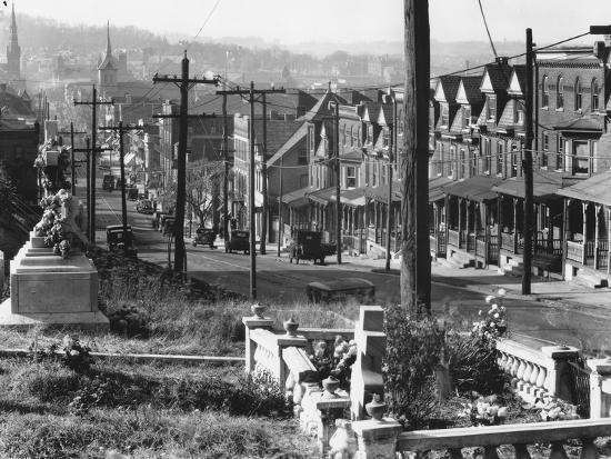 A street in Bethlehem, Pennsylvania, 1935-Walker Evans-Photographic Print