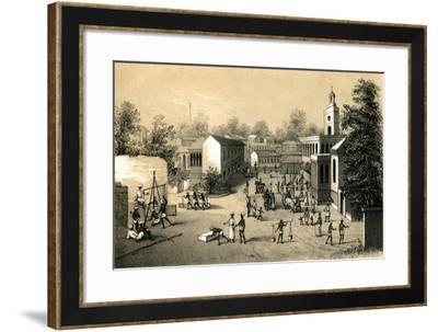 A Street in Bombay, 1847-B Clayton-Framed Giclee Print