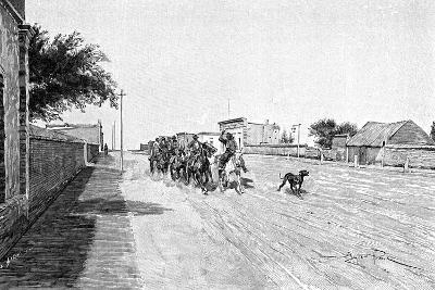 A Street in General Acha, Argentina, 1895-Alfred Paris-Giclee Print