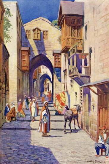 A Street in Jerusalem, C.1910-Harry Morley-Giclee Print