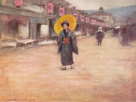 'A Street in Kioto', c1887, (1901)-Mortimer L Menpes-Giclee Print