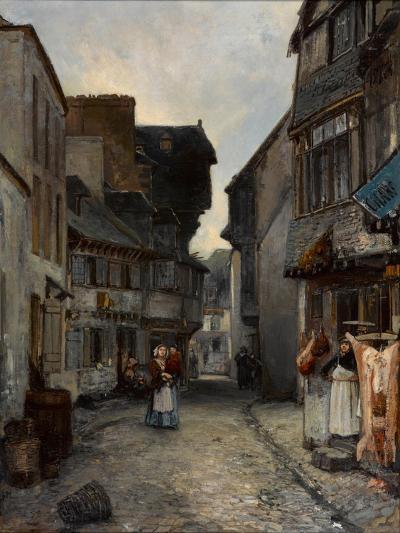 A Street in Landerneau, 1851-Johan Barthold Jongkind-Giclee Print
