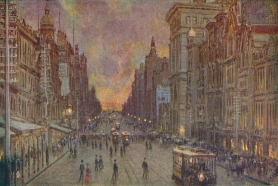 'A Street in Melbourne', 1924-Unknown-Giclee Print
