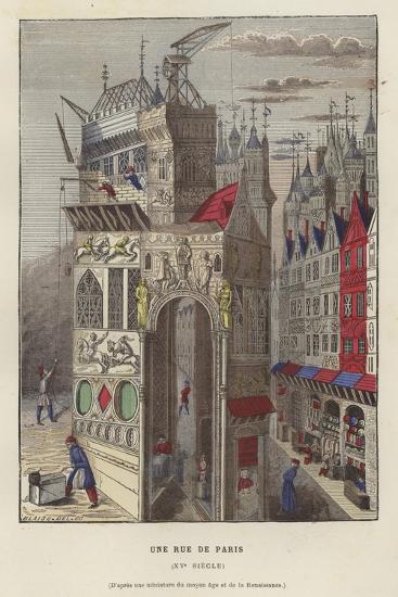 A Street in Paris, 15th Century--Giclee Print
