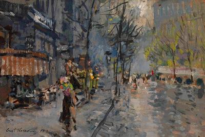 A Street in Paris, 1918-Konstantin Alexeyevich Korovin-Giclee Print