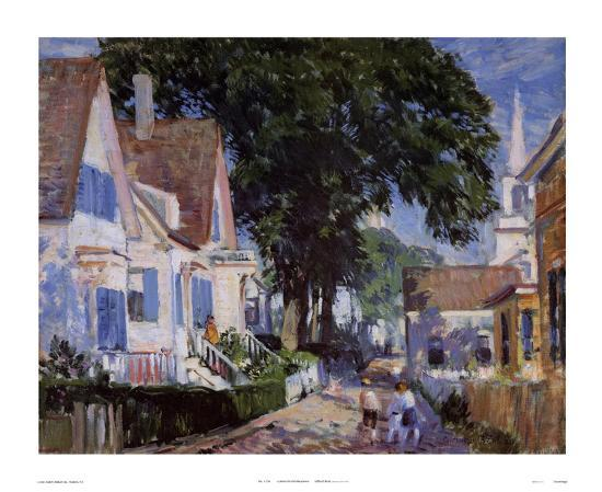 A Street In Provincetown-Gifford Beal-Art Print