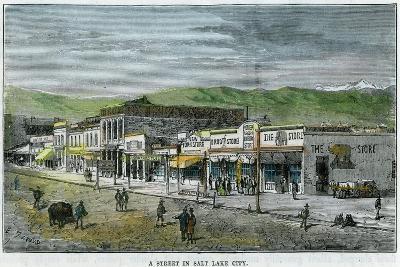 A Street in Salt Lake City, Utah, USA, C1880--Giclee Print