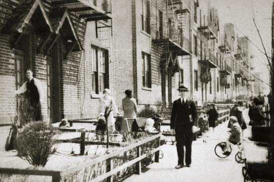 A street in the Borough of Queens, New York, USA, early 1930s-Unknown-Photographic Print