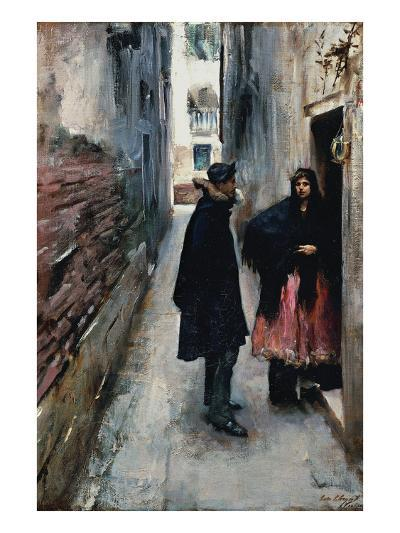 A Street in Venice-John Singer Sargent-Art Print