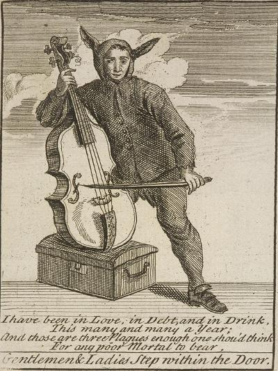 A Street Musician Dressed in Costume, Cries of London, C1688-Marcellus Laroon-Giclee Print