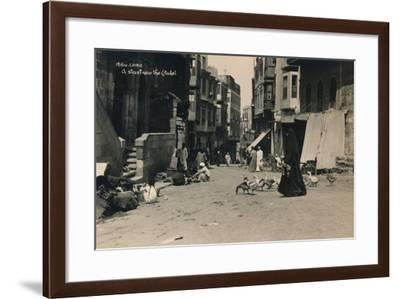 A Street Near the Citadel, Cairo, Egypt, 1936--Framed Photographic Print