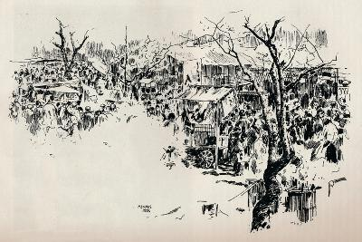 A Street Scene at Asakusa, C1897-Mortimer L Menpes-Giclee Print