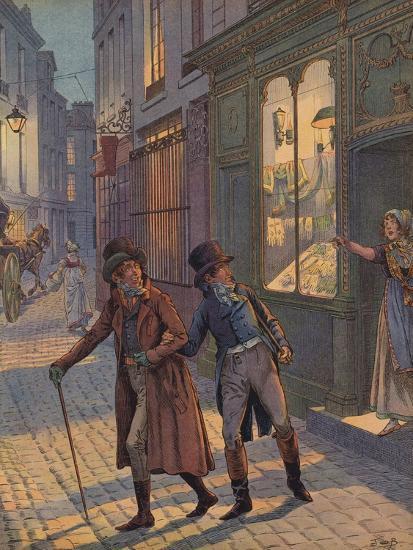 A Street Scene in Paris--Giclee Print