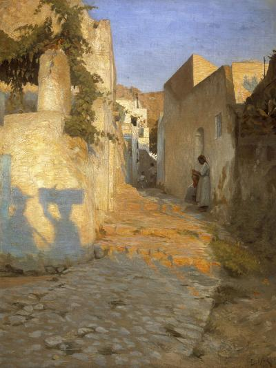 A Street Scene in Tunisia, 1891-Peter Vilhelm Ilsted-Giclee Print
