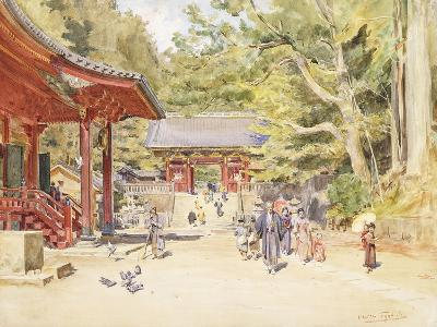 A Street Scene, Japan-Walter Frederick Roofe Tyndale-Giclee Print