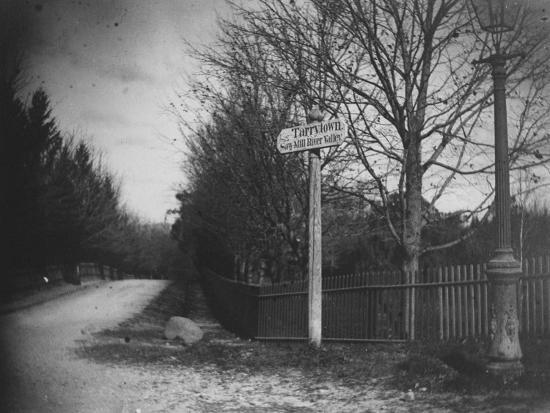 A Street Sign Saying Tarrytown, Saw Mill River Valley, Saw Mill Road, Ny-Wallace G^ Levison-Premium Photographic Print