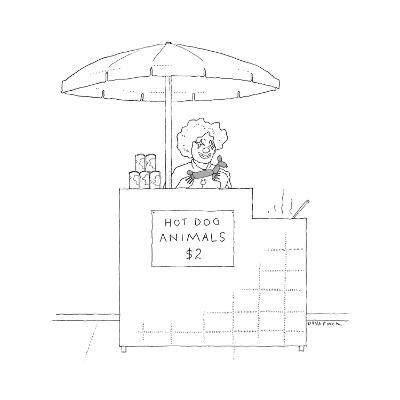 "A street vendor sells ""Hot Dog Animals."" - New Yorker Cartoon--Premium Giclee Print"