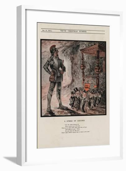 A Strike of Leeches--Framed Giclee Print