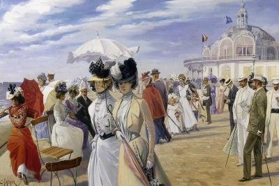 A Stroll at the Seaside, Ostend-Carl Hermann Kuechler-Giclee Print