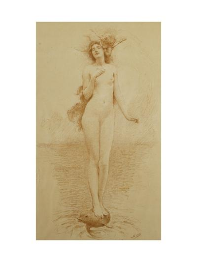 A Study for - The Birth of Love-Solomon Joseph		 Solomon-Giclee Print