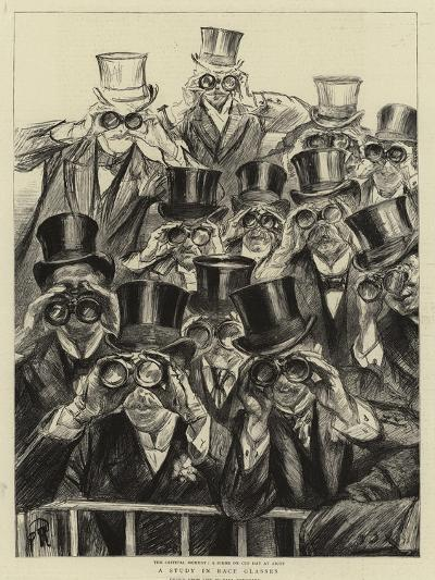 A Study in Race Glasses-Charles Paul Renouard-Giclee Print