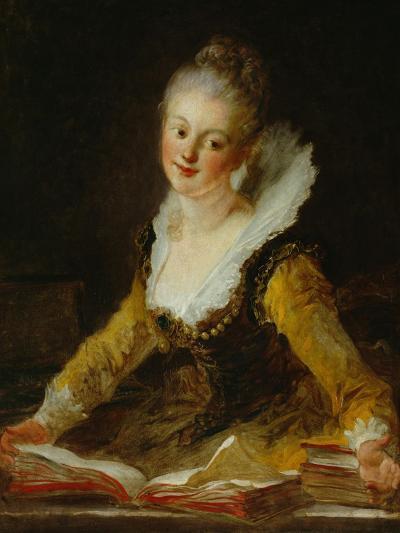 A Study (L'Etude)-Jean-Honor? Fragonard-Giclee Print