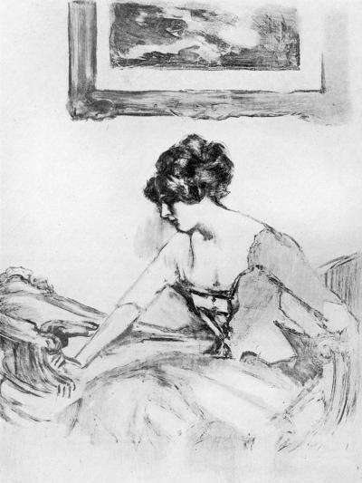 A Study, Late 19th Century-Albert de Belleroche-Giclee Print