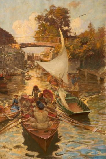 A Study of Boulter's Lock, Maidenhead, Berkshire-Edward John Gregory-Giclee Print