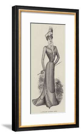 A Stylish Autumn Gown--Framed Giclee Print