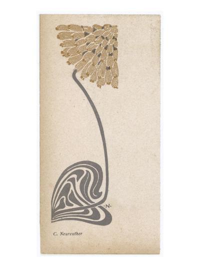 A Stylized, Art Nouveau Depiction of a Flower - Possibly a Dandelion--Giclee Print
