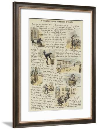 A Subaltern's First Impressions of Malta-Adrien Emmanuel Marie-Framed Giclee Print
