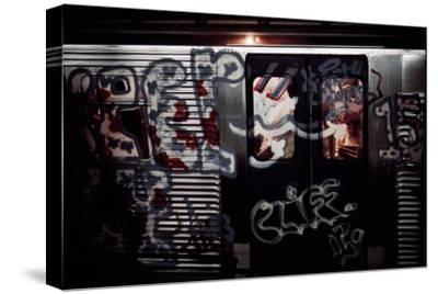 A Subway Car with Graffiti Painted over Windows and Metal Exterior, May 1973