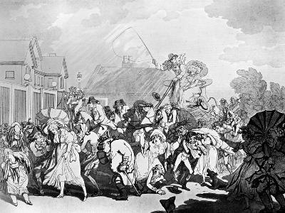 A Sudden Squall in Hyde Park, C1791-Thomas Rowlandson-Giclee Print
