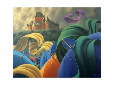 A Sudden Wind over Quebec-Claude Theberge-Art Print