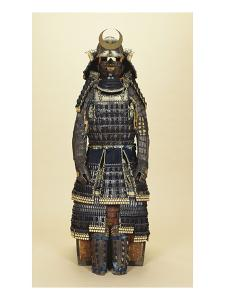 A Suit of Samurai Armour, the Kabuto Comprising a Fine Sixty-Two Plate Russet-Iron Sujibachi and…