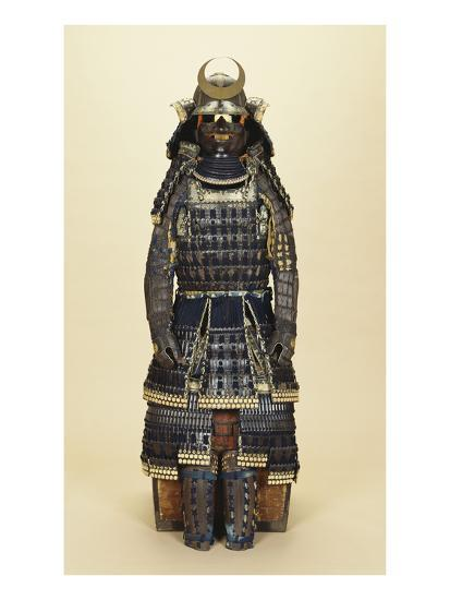 A Suit of Samurai Armour, the Kabuto Comprising a Fine Sixty-Two Plate Russet-Iron Sujibachi and…--Giclee Print