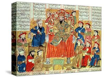 "A Sultan and His Court, Illustration from the ""Shahnama"", by Abu""L-Qasim Manur Firdawsi circa 1330"
