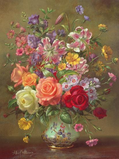A Summer Floral Arrangement, 1996-Albert Williams-Giclee Print