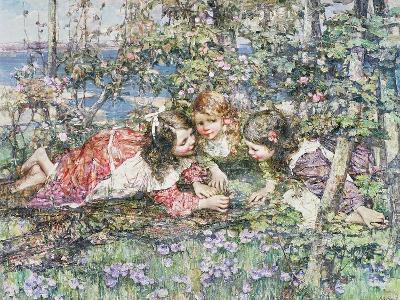 A Summer Idyll-Edward Atkinson Hornel-Giclee Print