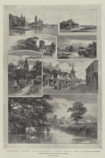 A Summer Ride Through Weybridge to Bisley--Giclee Print