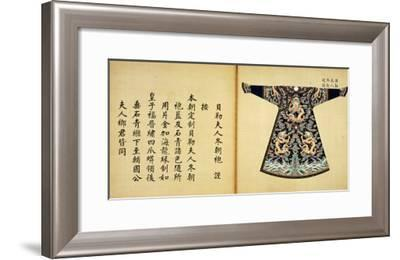 A Summer Robe or Chao Pao of the Wife of an Imperial Duke--Framed Giclee Print