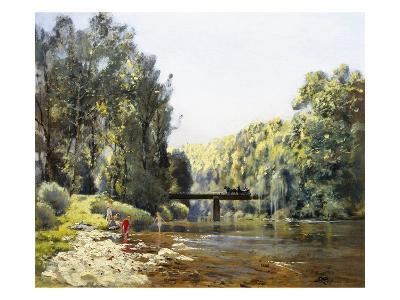 A Summer's Day on the River-Emile Cagniart-Giclee Print