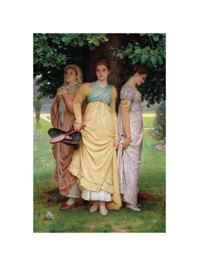 A Summer Shower-Charles Edward Perugini-Premium Giclee Print