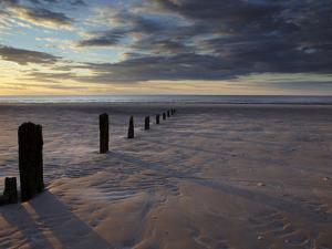 A Summer Sunset at Brancaster, Norfolk, England, United Kingdom, Europe