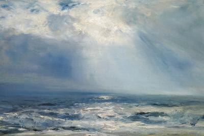 A Sunbeam over the Sea, 1890 (Oil on Panel)-Henry Moore-Giclee Print