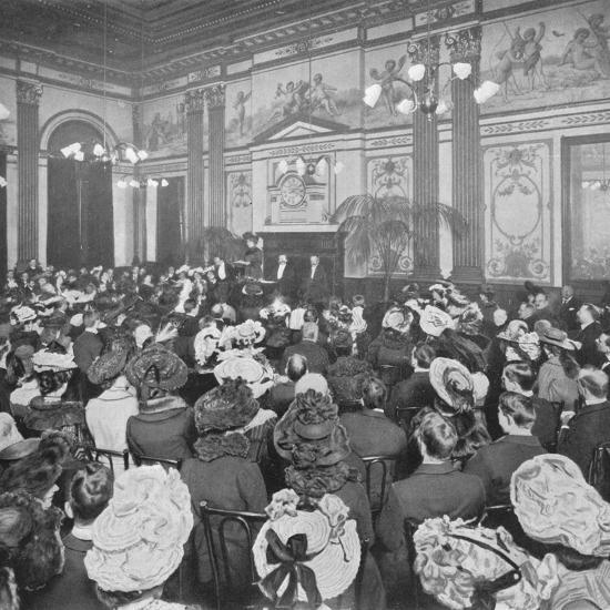 A Sunday evening debate at the Old Playgoers Club, London, c1903 (1903)-Unknown-Photographic Print